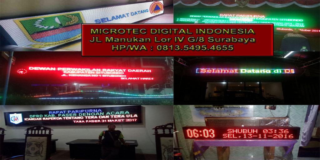 Jual running text bangkalan madura