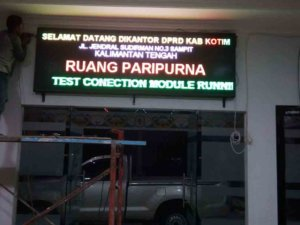 running text surabaya