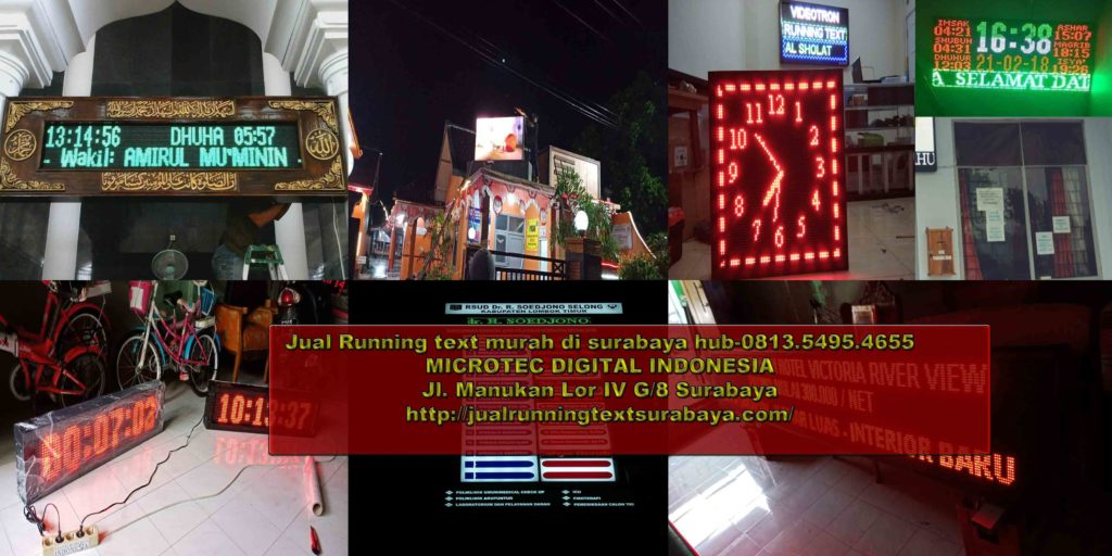 Jual running text di Sikka
