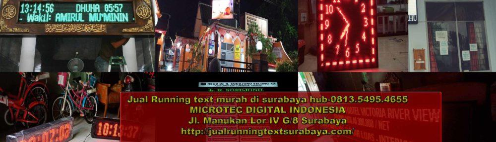 Jual running text murah surabaya
