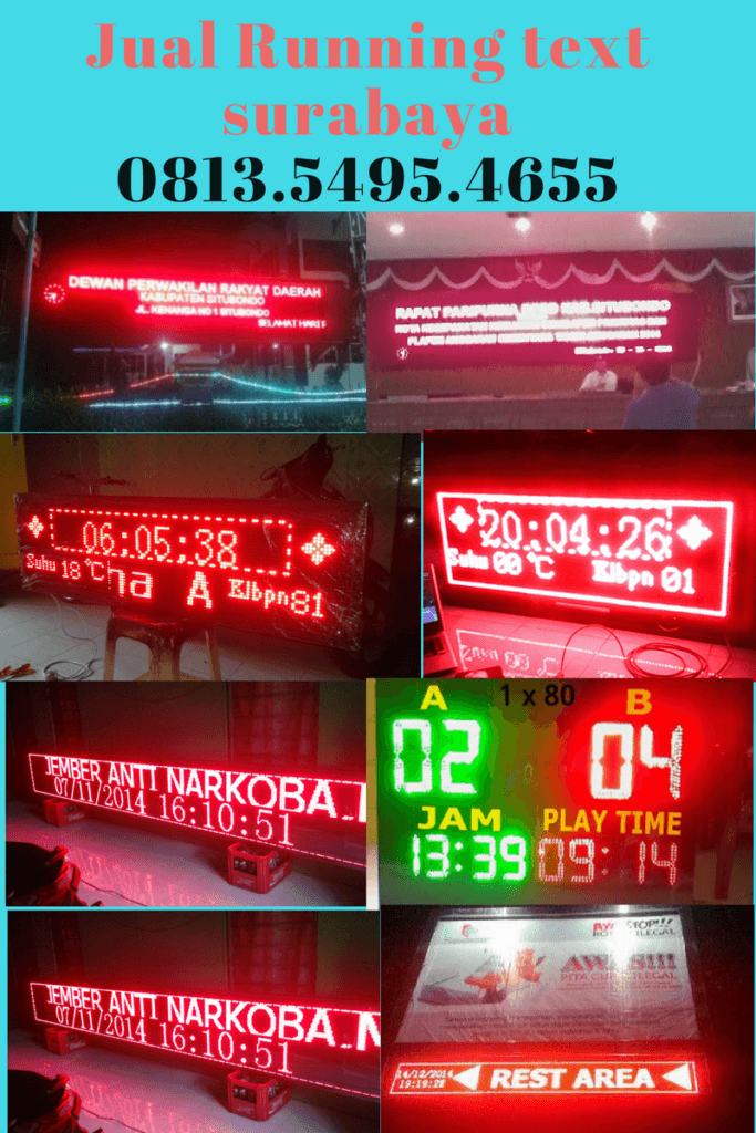 Jual Running text Kupang