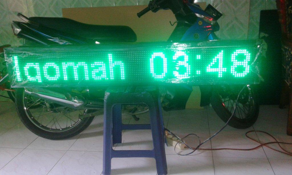 jual running text mini surabaya, jual spare part running text surabaya, jual running text online surabaya, jual jam digital masjid surabaya