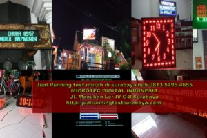 Jual Running text Surabaya II Jadwal sholat 0813.5495.4655