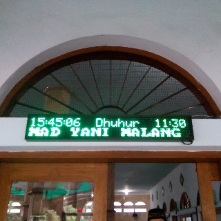 setting running text masjid