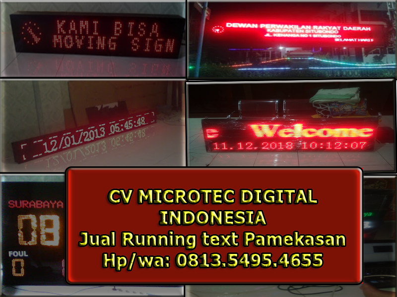 Jual Running text pamekasan