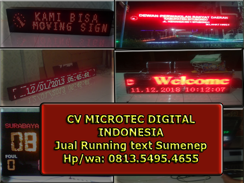 Jual running text sumenep