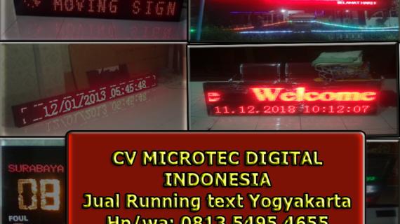 0813.54954655(Tsel)Jual Running text Yogyakarta
