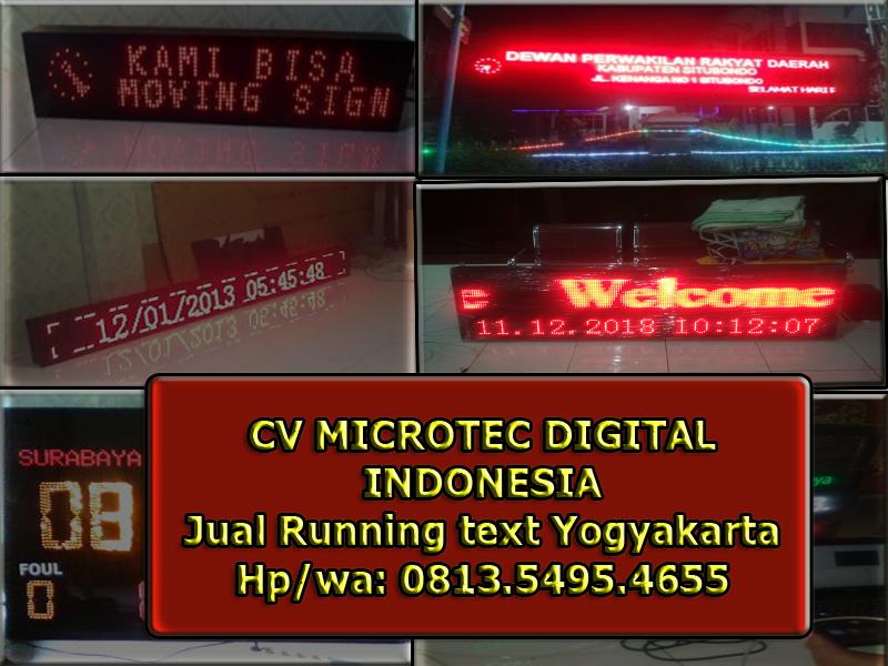 Jual running text yogyakarta